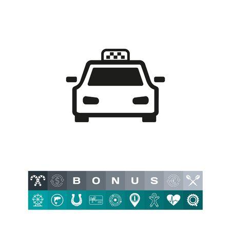 Taxi cab icon Illusztráció