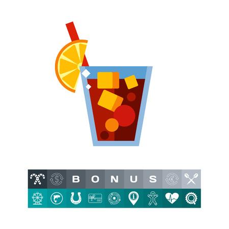 Icon Von Kuba Libre Trinken. Essen, Alkohol, Party. Cocktailkonzept ...