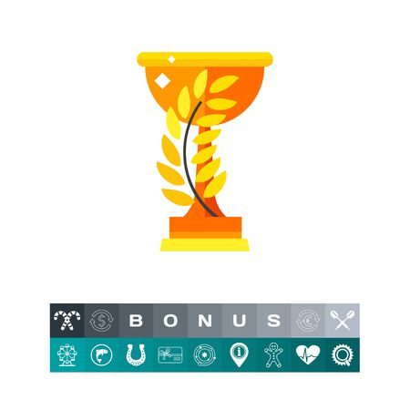 twigs: Winner Cup Vector Icon Illustration