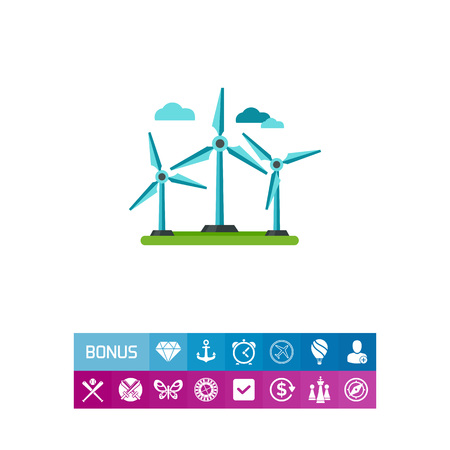 Winds turbine icon