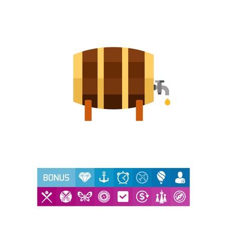 Wooden barrel icon
