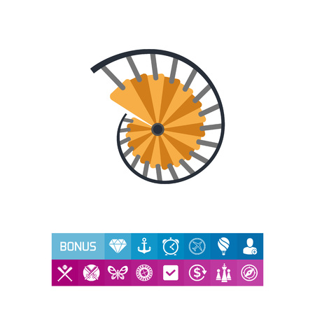 Spiral Staircase Vector Icon