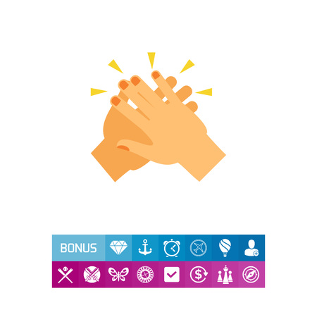 Two hands giving five vector icon 向量圖像