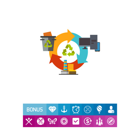 Recycling garbage concept icon