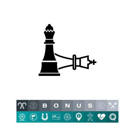 Chess Mate Concept Icon Illustration