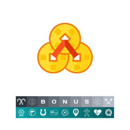 chinese knot: Chinese coins icon
