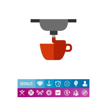 polymer: Process of 3d printing cup icon Illustration
