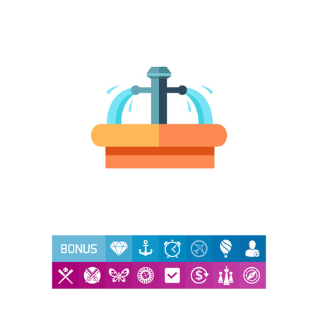 Pure mineral spring icon
