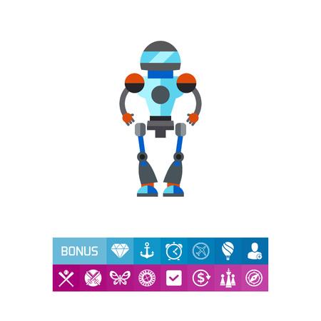 cybernetics: Robot vector icon