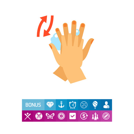 Rubbing Between Fingers Icon Illustration