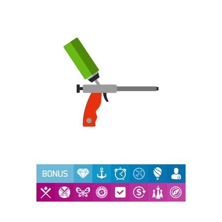 Silicone gun vector icon