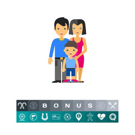 Happy Family Icon Çizim