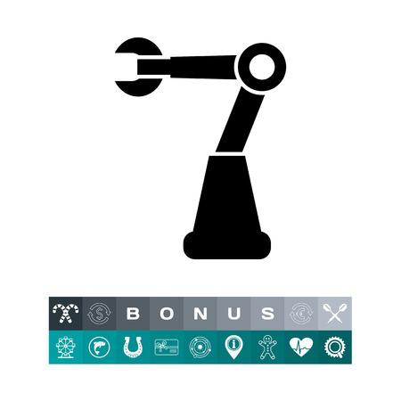 Icono de robot industrial