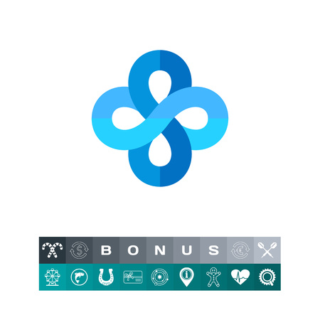 Infinity Signs as Mathematics Concept Icon Illustration