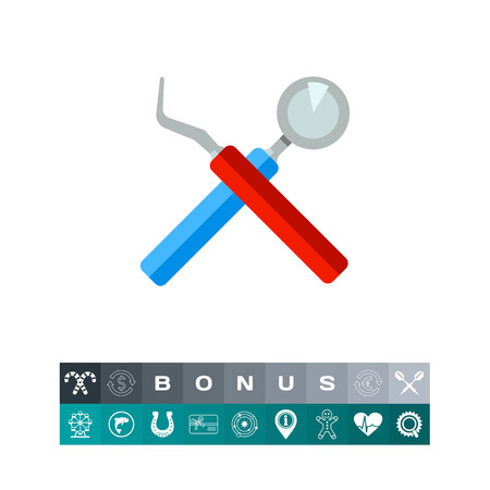 Instruments as Stomatology Concept Icon