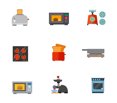 meat  grinder: Kitchen appliances icon set