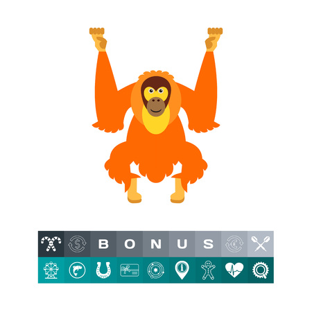 Isolated Orangutan Icon