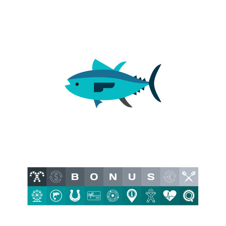 bluefin tuna: Isolated Tuna Icon