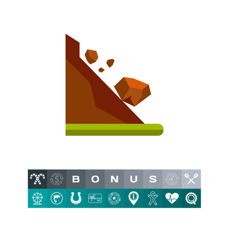Landslide Concept and Rolling Stones Icon