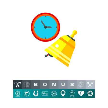 Lesson Concept Icon with Bell and Clock