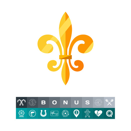 Royal French lily icon Vector illustration.