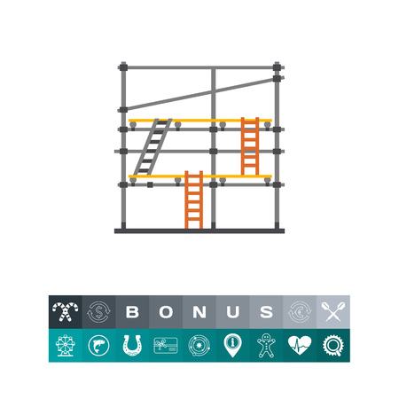 steel industry: Scaffolding vector icon Vector illustration.