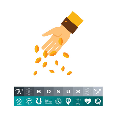 Sowing hand icon Vector illustration.