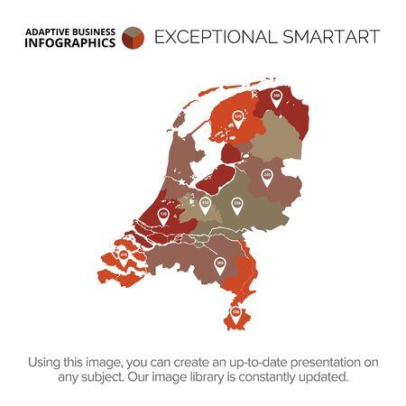 Netherlands map template 1 Illustration