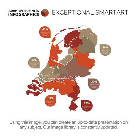 Netherlands map template 2