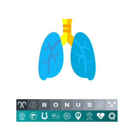 Lungs illustration. Human organ, respiratory system, health. Organ concept. Can be used for topics like organs, anatomy, health care Illustration