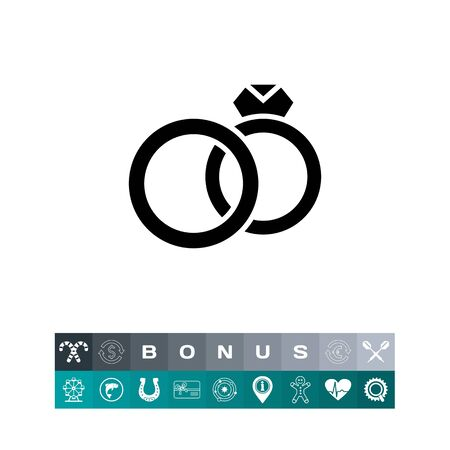 diamond ring: Marriage simple icon