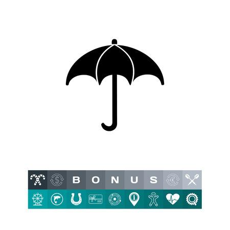 meteorological: Monochrome vector icon of umbrella representing meteorology concept