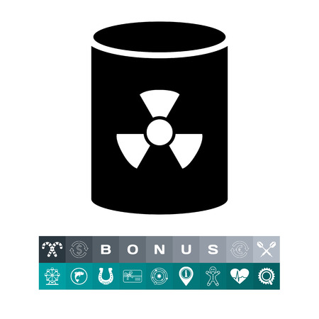 uranium: Nuclear waste barrel Illustration