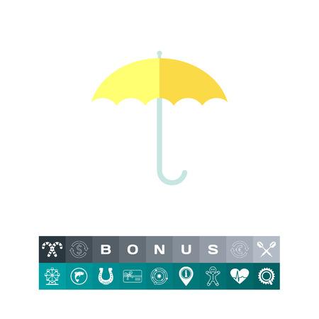 rainy season: Open umbrella Illustration