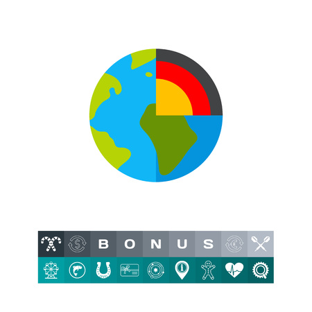 Planet Cutaway as Geology Concept Icon