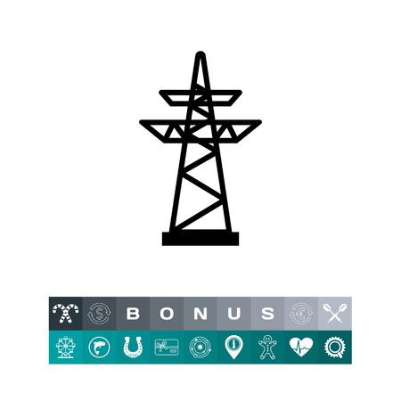high voltage: Icon of voltage pole