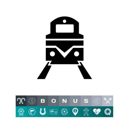 Railway simple icon Illustration