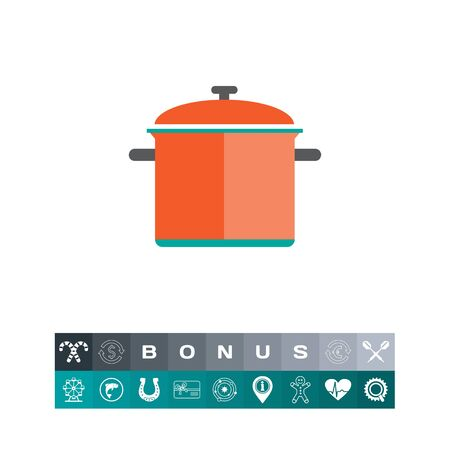 stewing: Red saucepan