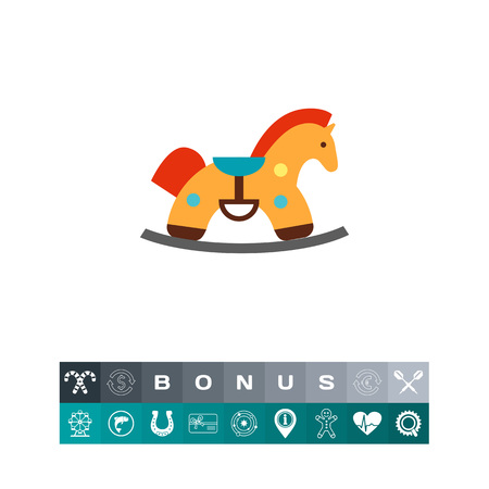 Rocking horse icon Illustration