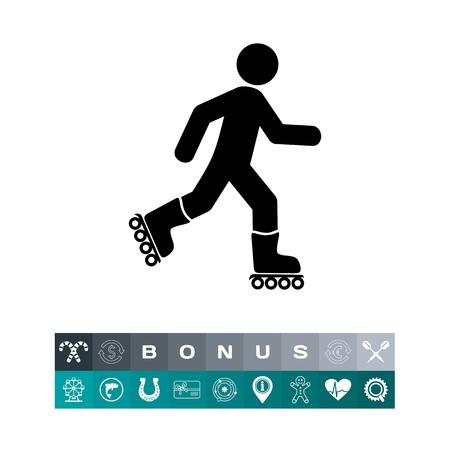 Roller skating man. Illustration