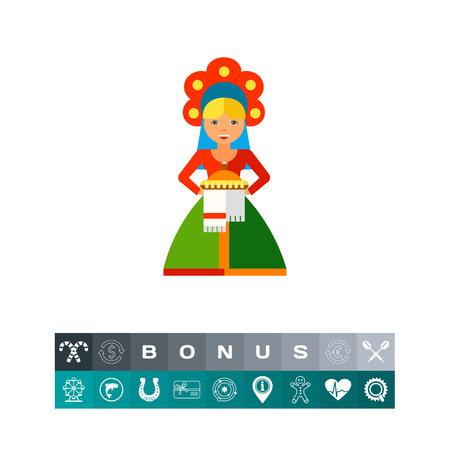 Russian icon. Illustration