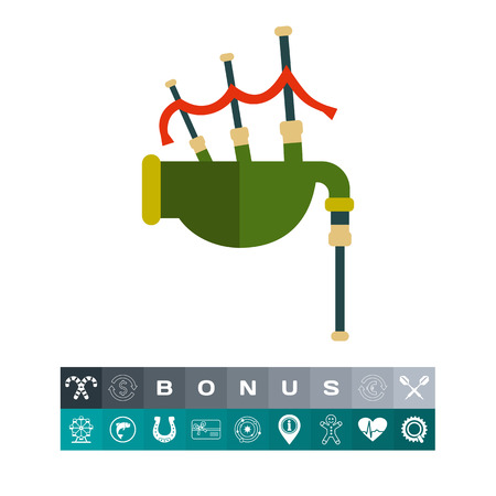 Scottish bagpipe icon