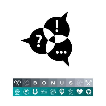 symbol. punctuation: Communication Simple Icon