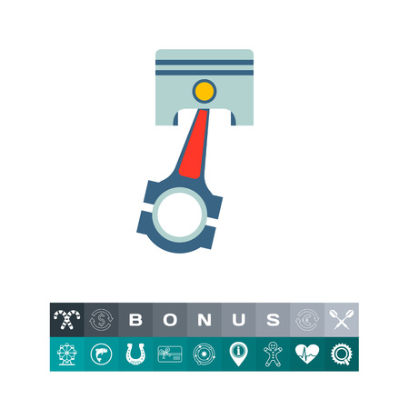 Engine piston icon