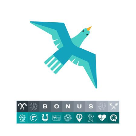 Flying bird icon Illustration