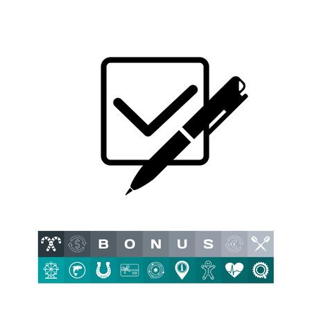 Quiz Concept with Checkmark Icon