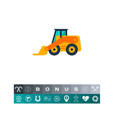 Skid loader icon