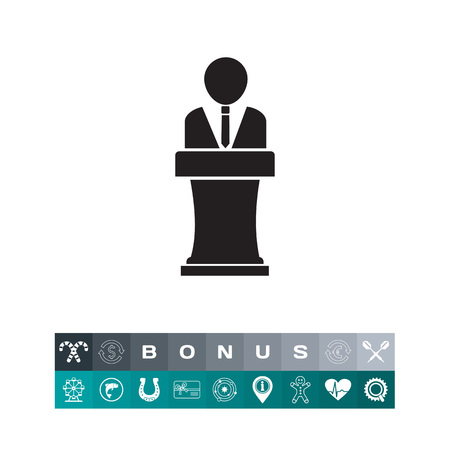 Speaker silhouette icon