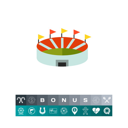 Stadium flat icon Illustration