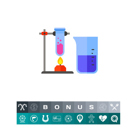 Test Tubes as Chemistry Concept Icon